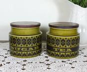 Image of Vintage Hornsea Tea and Sugar Jars
