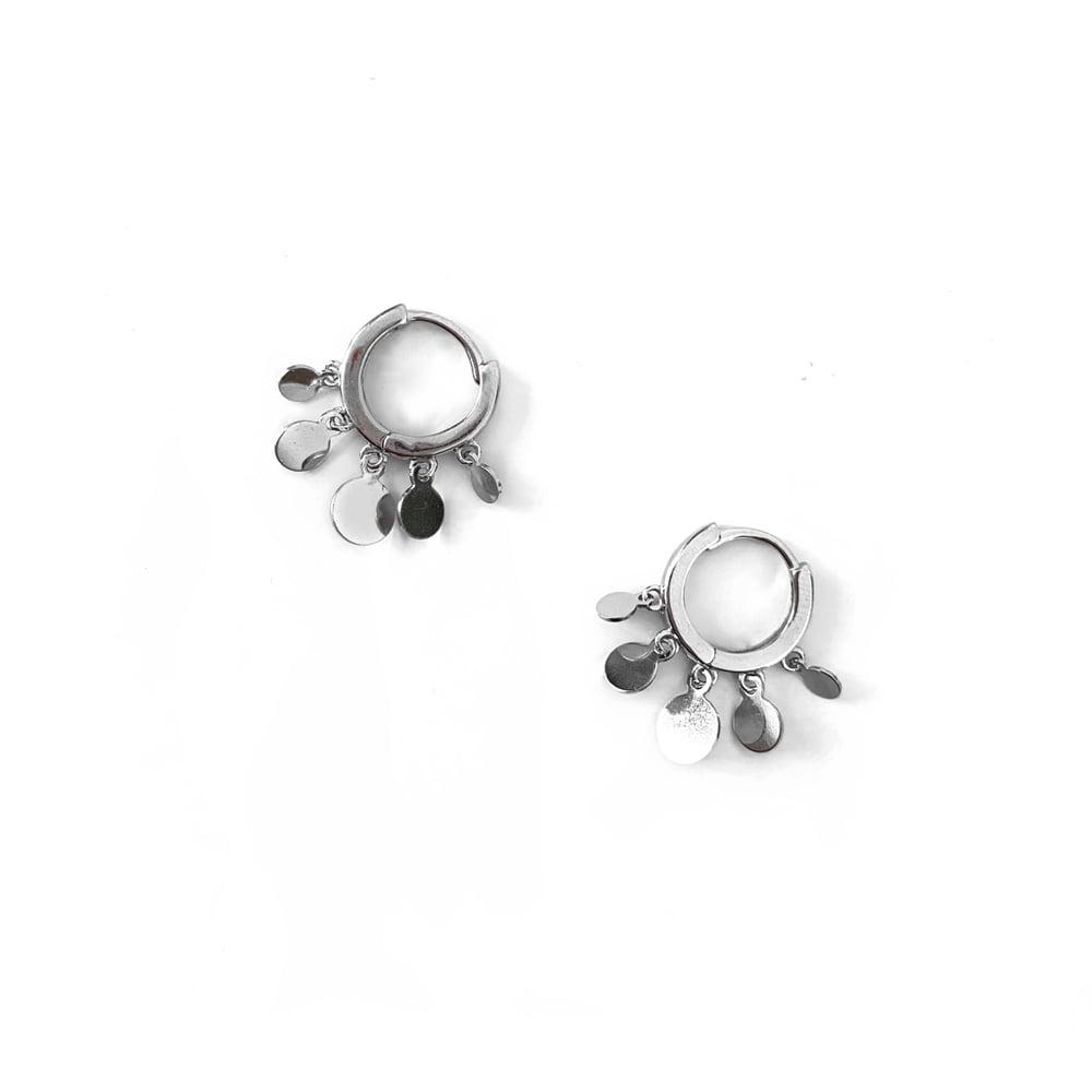 Image of Sterling Silver Circle Hoop Earrings