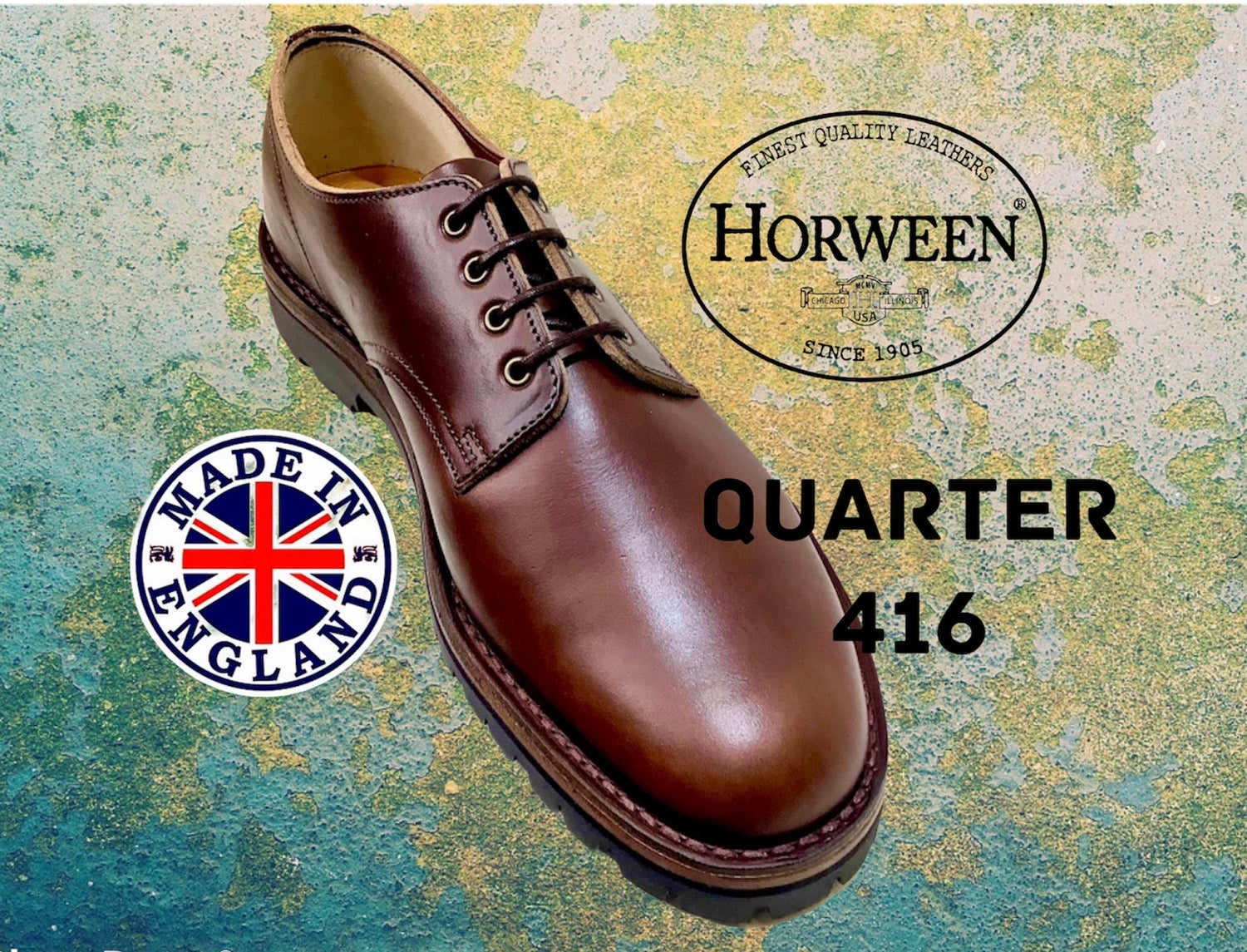 Image of Jadd Horween chromexcel brown leather desert shoes made in England