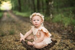 Image of Peach flutter romper