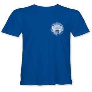 """Image of Confusion - """"Bat Crest"""" kids t-shirt - [blue]"""
