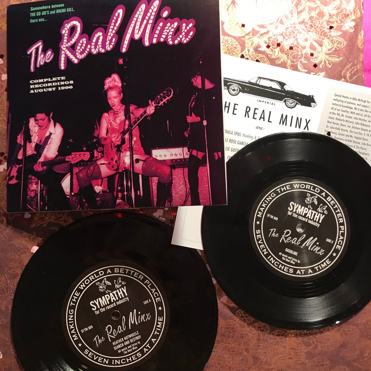 """Image of The Real Minx double gatefold 7"""" vinyl records"""