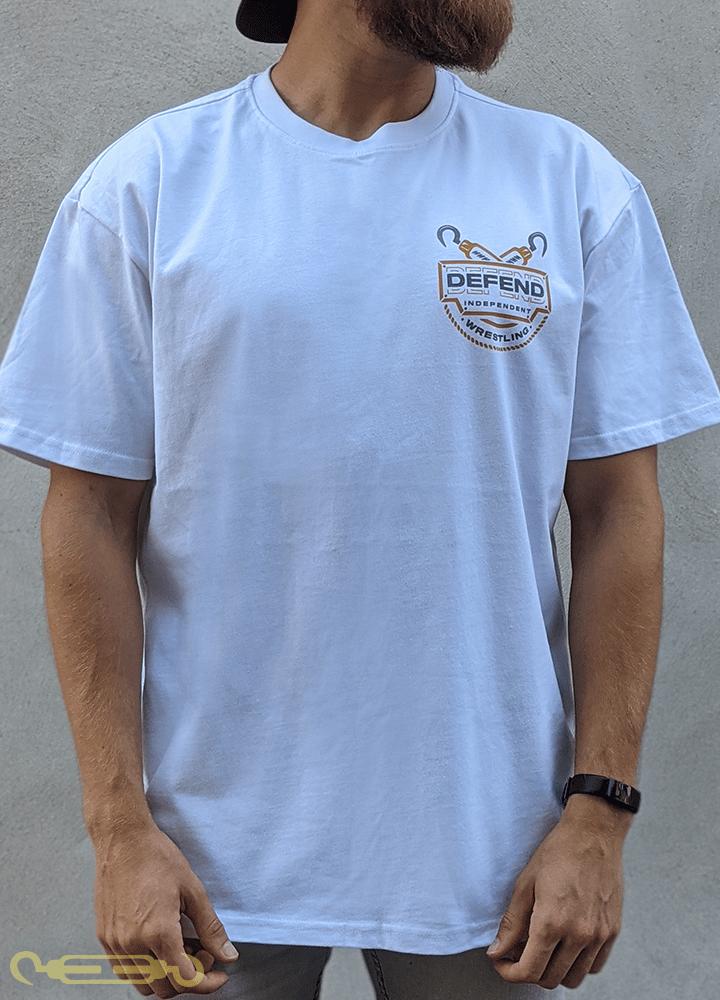 Image of Squared Circle Oversized Shirt -  White