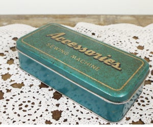 """Image of Vintage """"Accessories"""" Sewing Tin"""