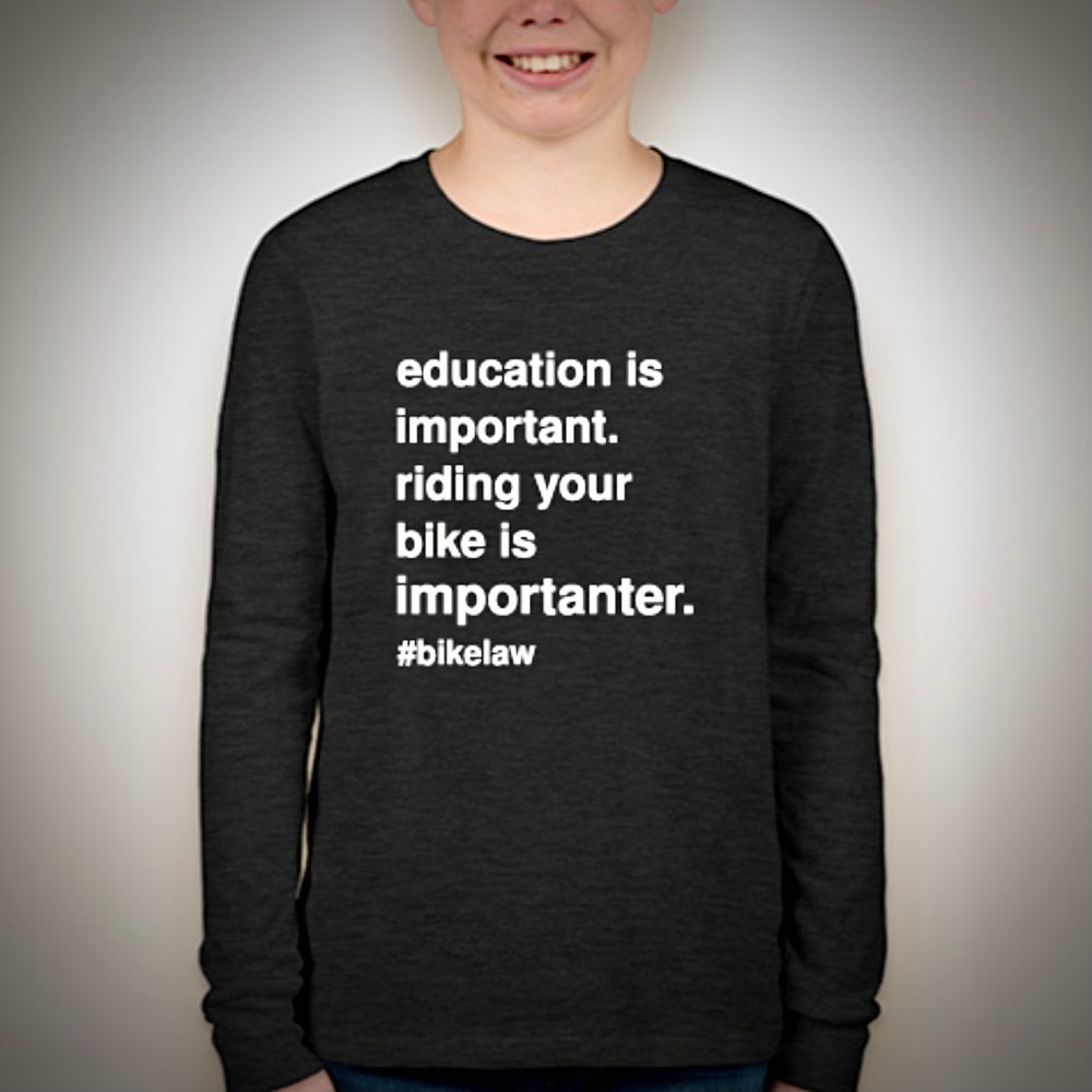 Image of Bike Law ED - Kid's Long Sleeve T-Shirt
