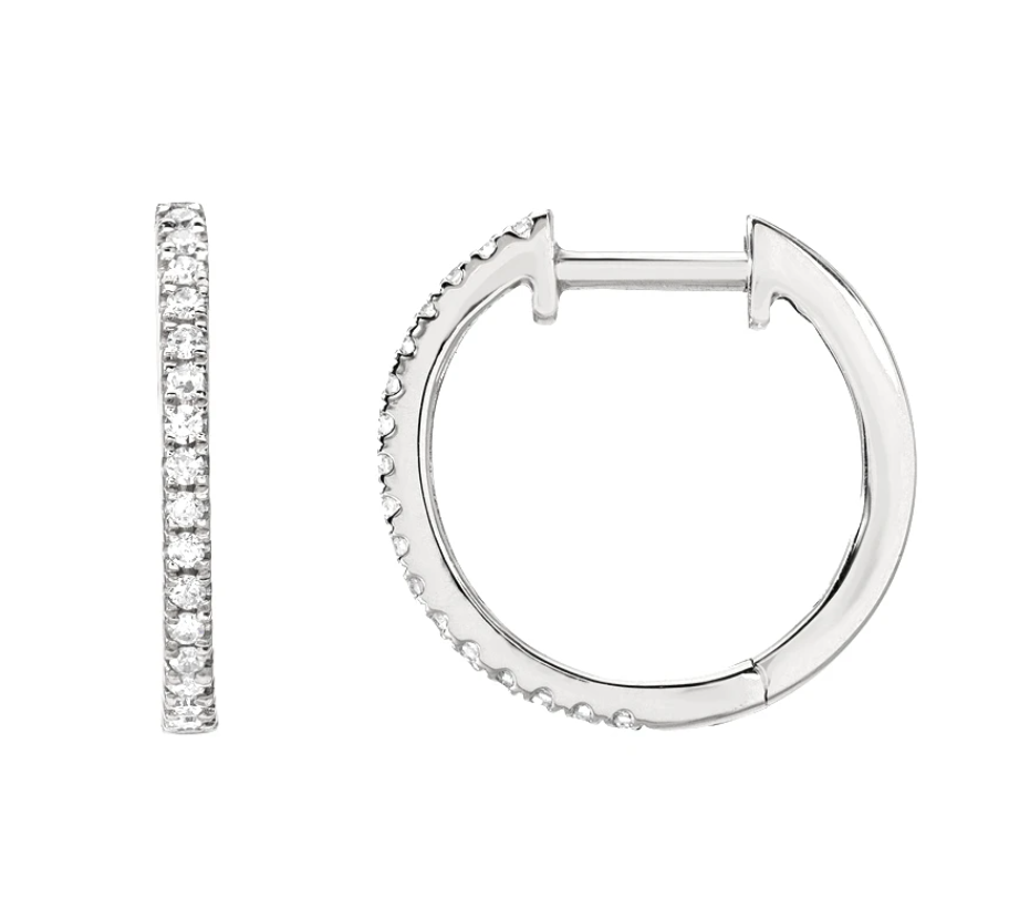 Image of Classic Hoops (14 kt and diamonds)