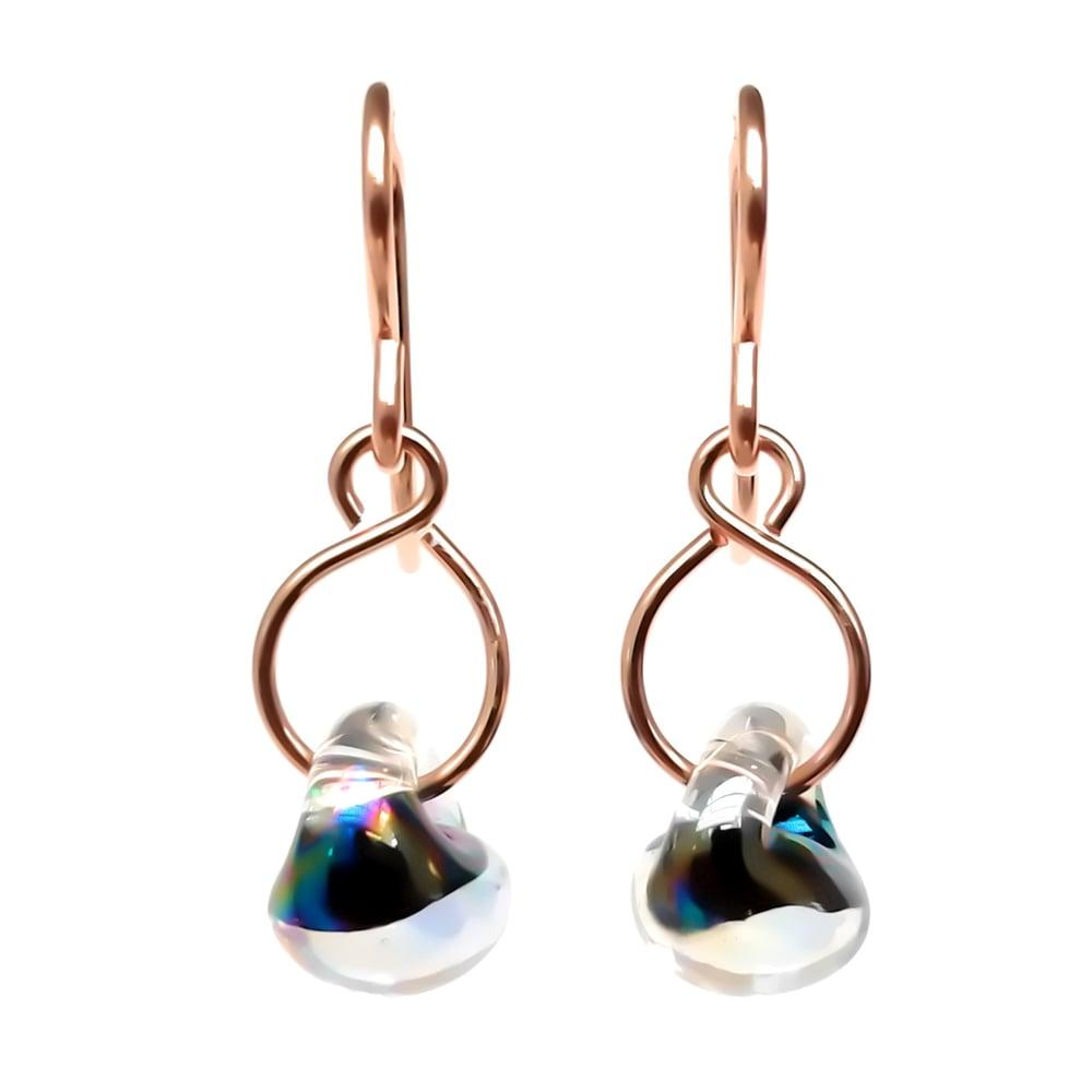 Image of Black Glass Earrings