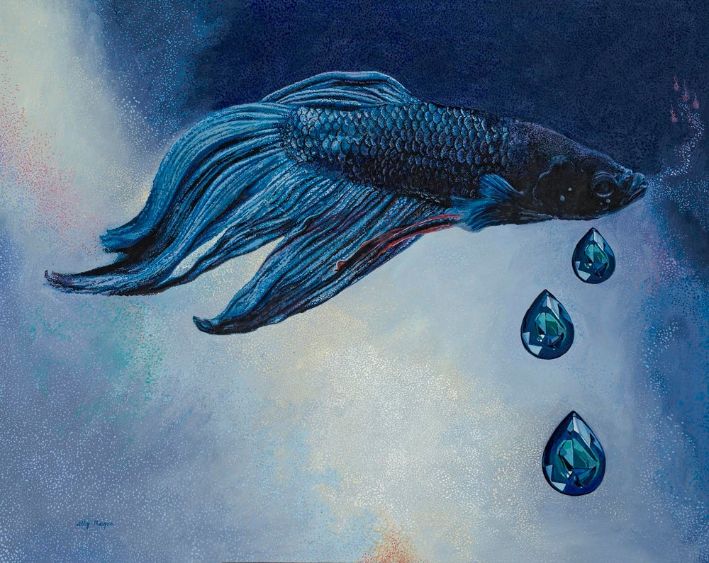 """You Are the Blue in My Bones"" Fine Art Print"