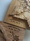National Parks Topographic Wooden Relief Map
