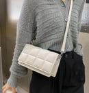 """Image 2 of """"Tufted"""" Leather Shoulder Bag"""