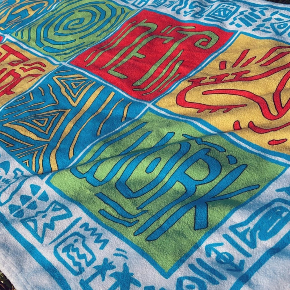Image of Greetings from Ska Shores | Island Vibes Beach Towel | BACK IN STOCK - NOW WITH 2 SIZES
