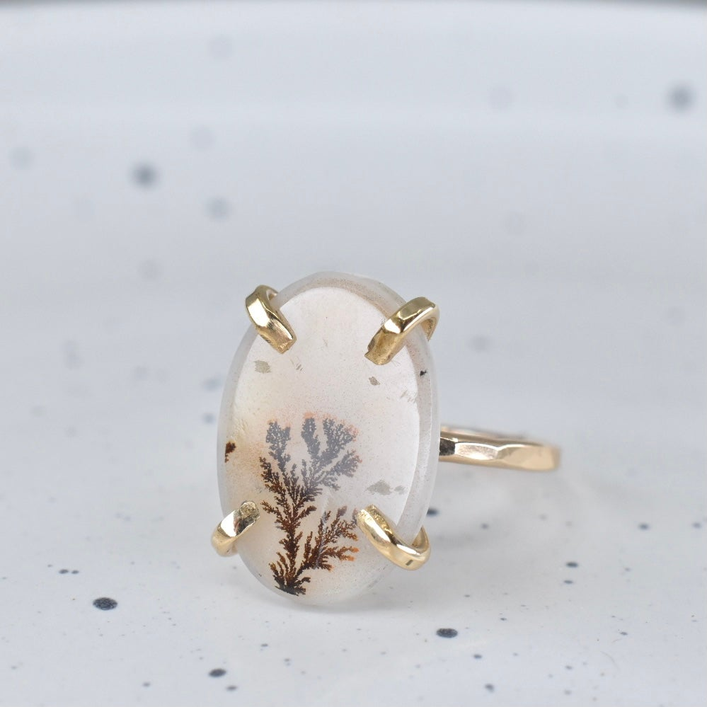 Image of Gold Filled Dendritic Agate Ring