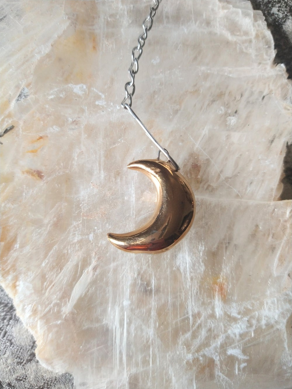 Image of Gold Moon Tea Infuser OR necklace