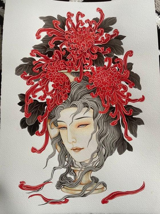 Image of Chrysanthemum vase in A3