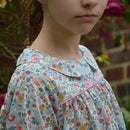 Image 2 of Blouse liberty betsy porcelaine col claudine