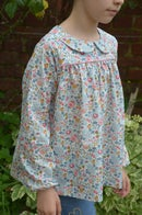 Image 1 of Blouse liberty betsy porcelaine col claudine