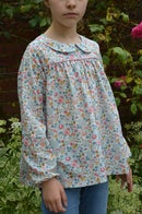 Image 4 of Blouse liberty betsy porcelaine col claudine