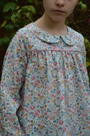Image 5 of Blouse liberty betsy porcelaine col claudine