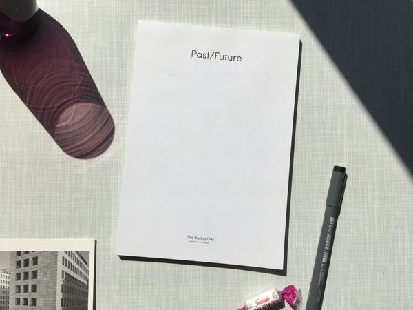"""Image of Notepad """"Past/Future"""""""