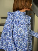 Image 1 of blouse liberty betsy lavande col montant
