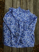 Image 2 of blouse liberty betsy lavande col montant