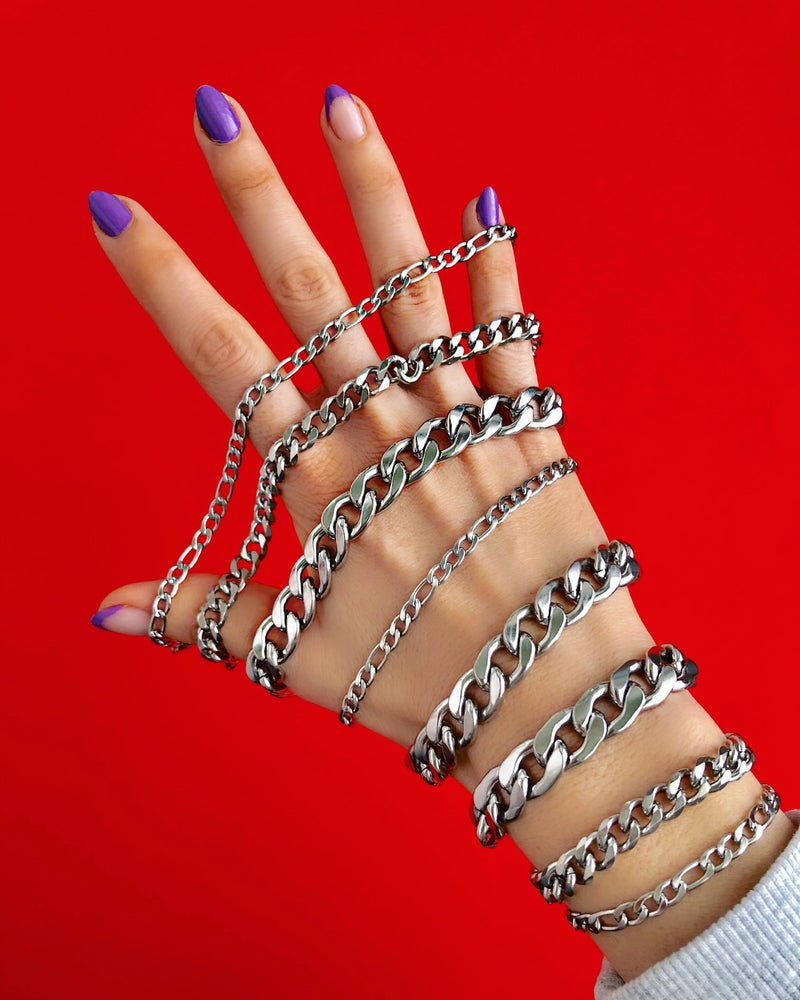 Image of ALL OUR CHAIN BRACELETS SILVER & GOLD