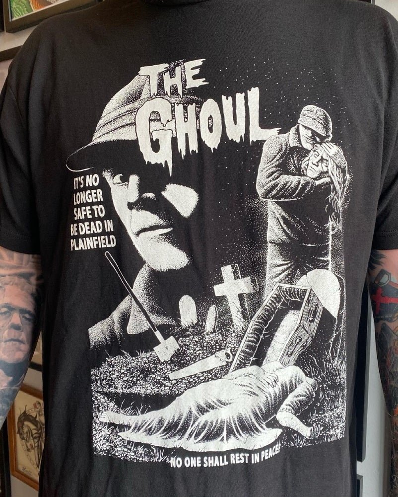 """Image of Professor Tooth's - Ed Gein """"The Ghoul"""" Tee Shirt"""