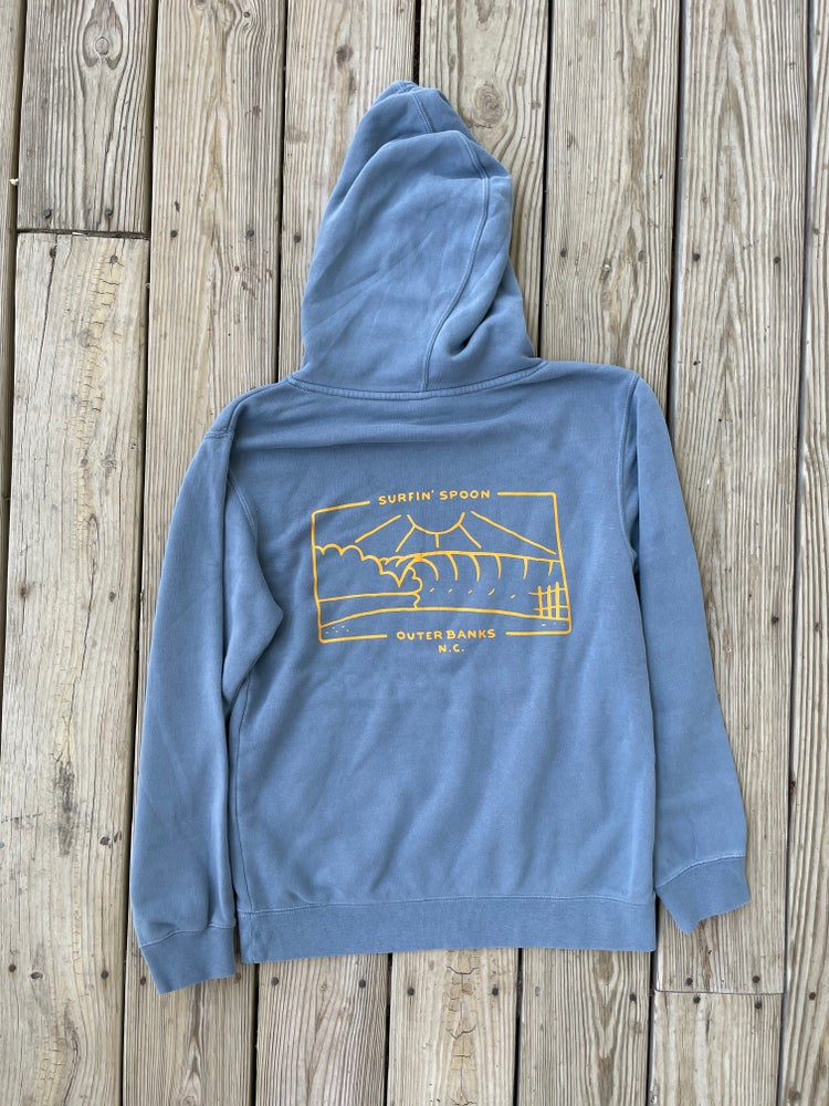Image of Spoon Surfboard Slate Blue Pullover