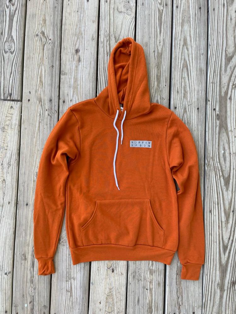 Image of Wave Block Orange Retro Pullover