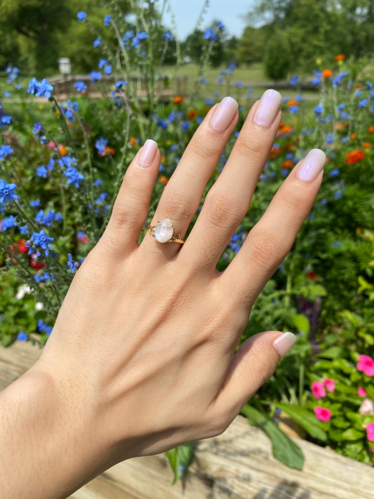 Image of Moonstone ring size 5