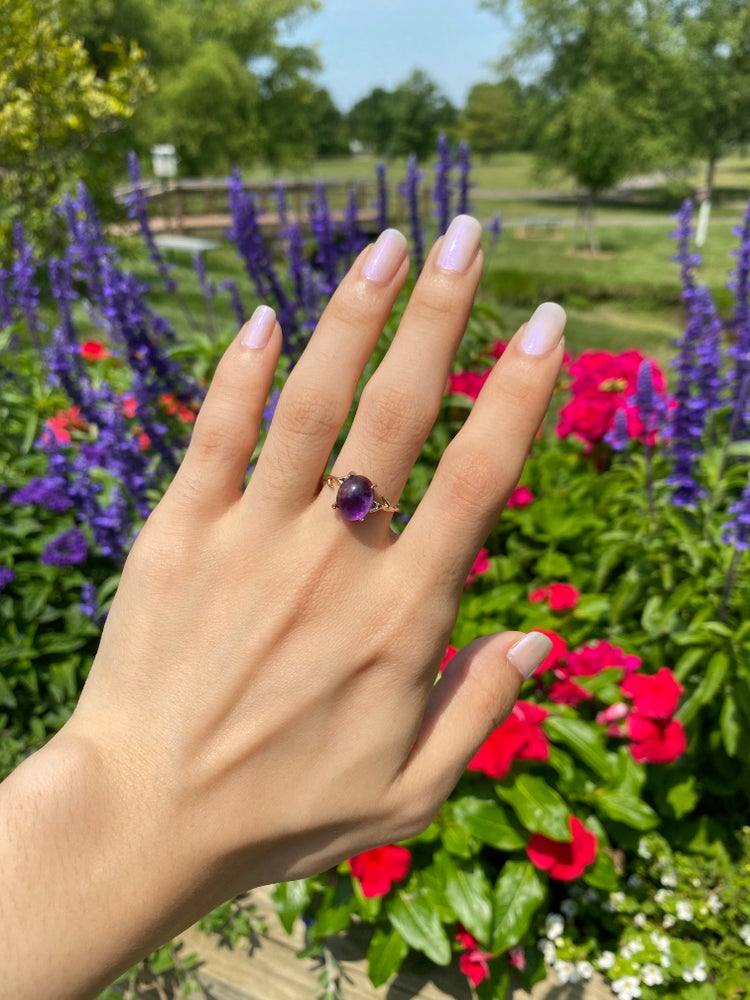 Image of Amethyst ring size 6