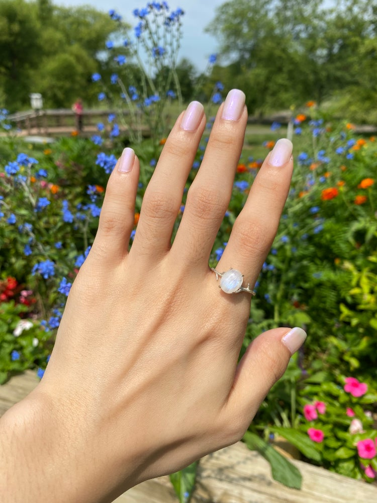 Image of Moonstone ring size 9