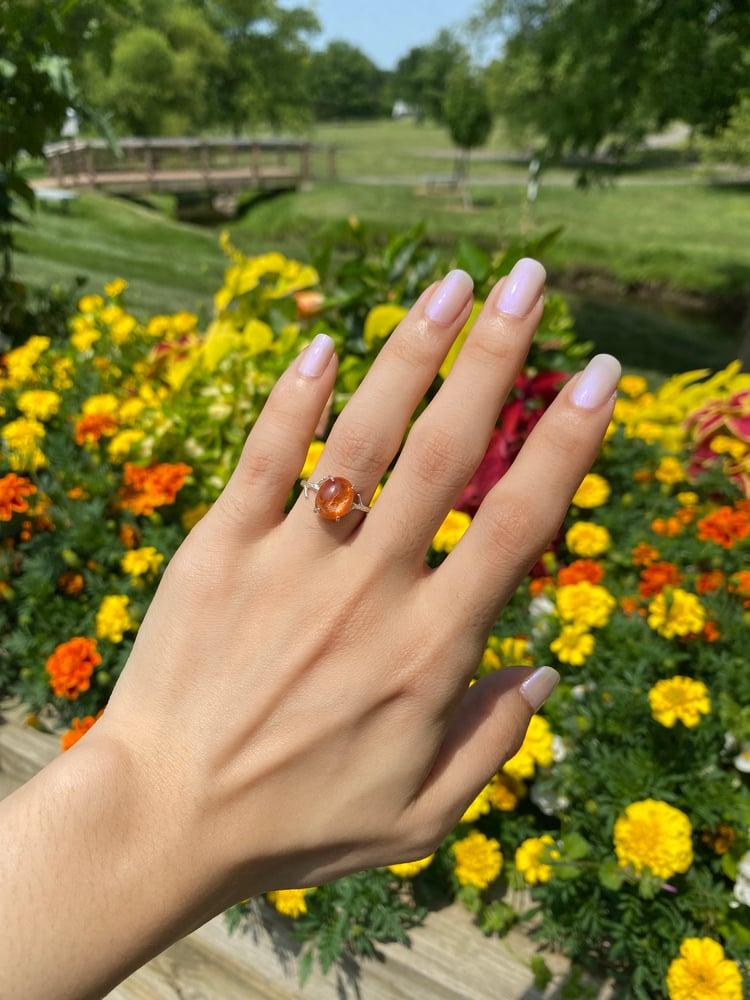 Image of Sunstone ring size 5