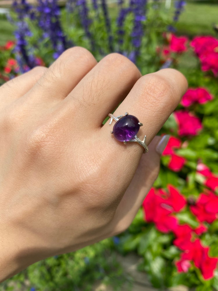 Image of Amethyst ring size 8