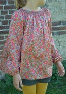 Image 1 of Blouse à smocks betsy fluo thé manches longues