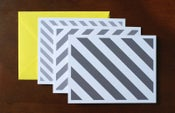 Image of Grey Striped Notecards