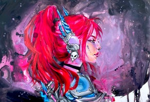 "Image of ""Space Raider"" Original Painting"