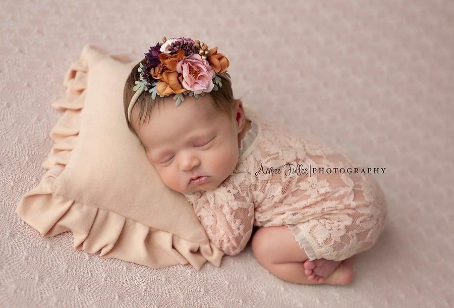Image of Velvet ruffled pillow (choice of colors)