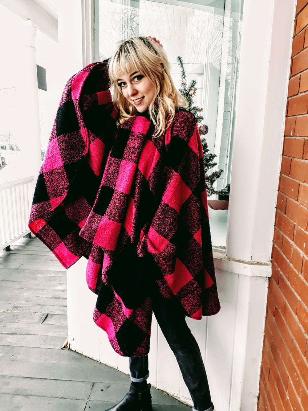 Image of Pink Checkered Wrap