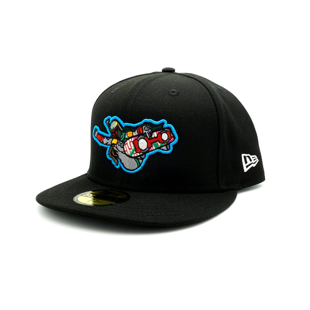 Escaping the Pit Custom Fitted cap BLACK
