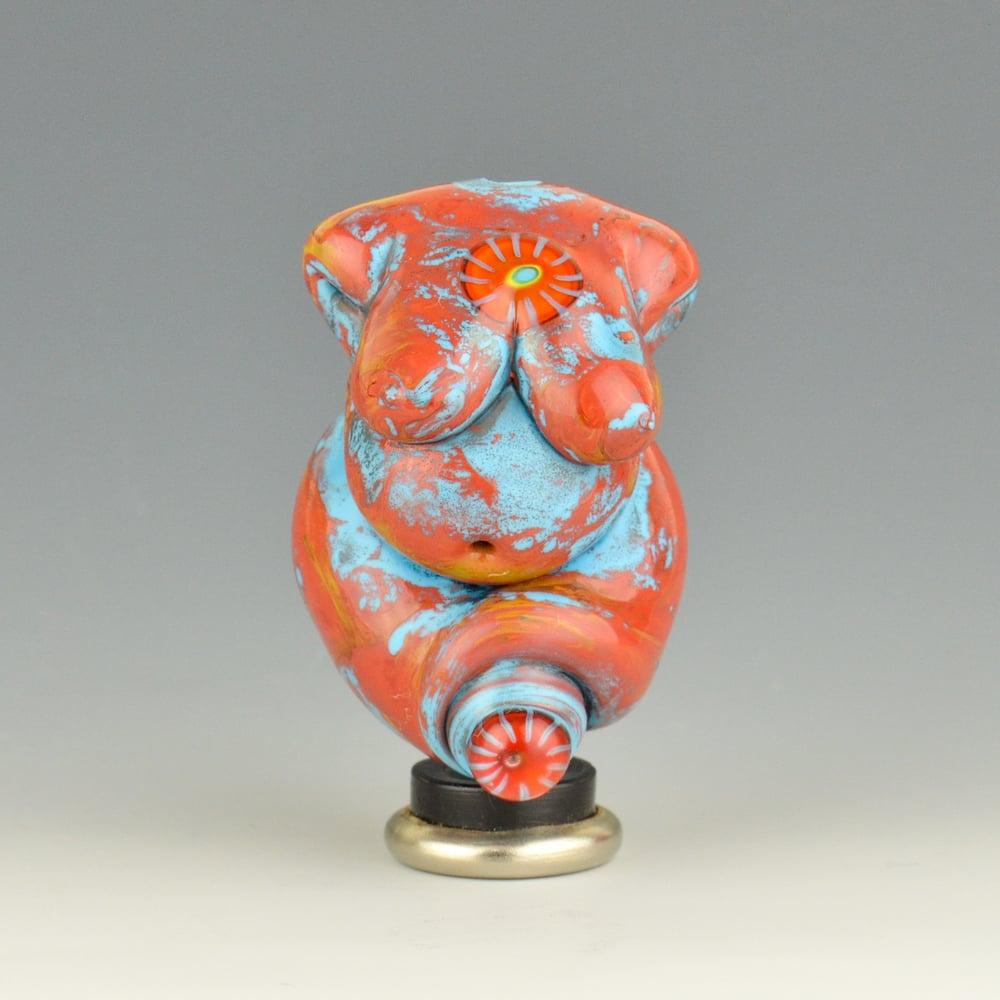 Image of XL. Curvy Mother Fire Goddess - Flamework Glass Sculpture Bead