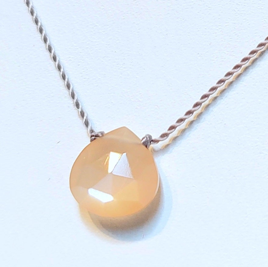 Image of Peach Moonstone Whisper Necklace