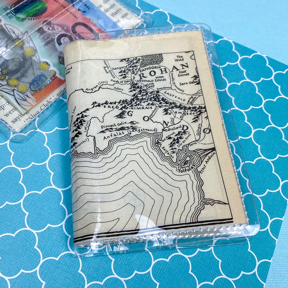 Image of Rohan and Gondor Map, Lord of the Rings Card Wallet