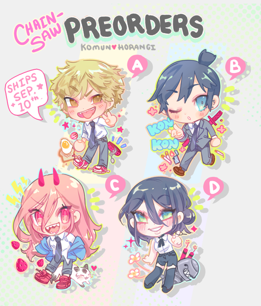 """Image of Chainsaw Man 2"""" charms - PREORDER!! SHIPS SEPT 10TH"""