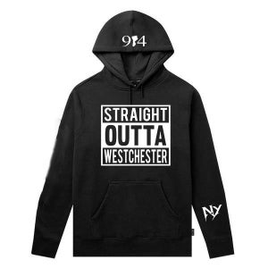 Image of CLASSIC STRAIGHT OUTTA WESTCHESTER TEE AND HOODIE