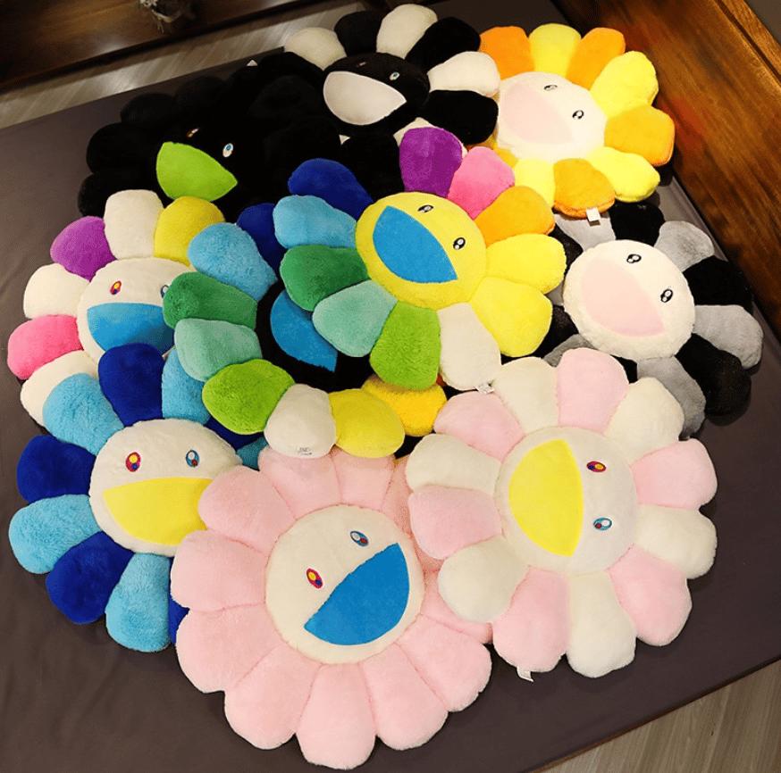 Image of Rainbow Flower Plush Pillow