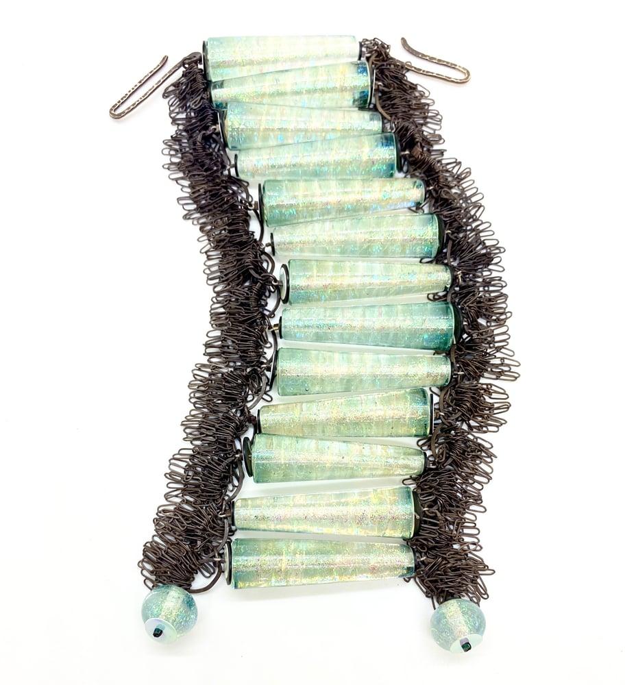Image of Bullet Bracelet with Silver Fringe