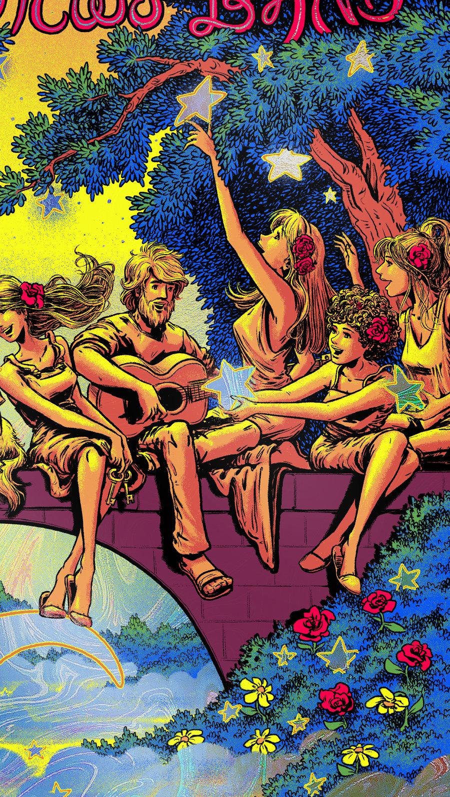 Image of Dave Matthews Band - Raleigh, NC 2021 - Hazy Waves HoloFoil