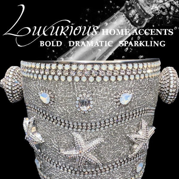 Image of Dazzle Swarovski Crystal Starfish Champagne Wine Cooler