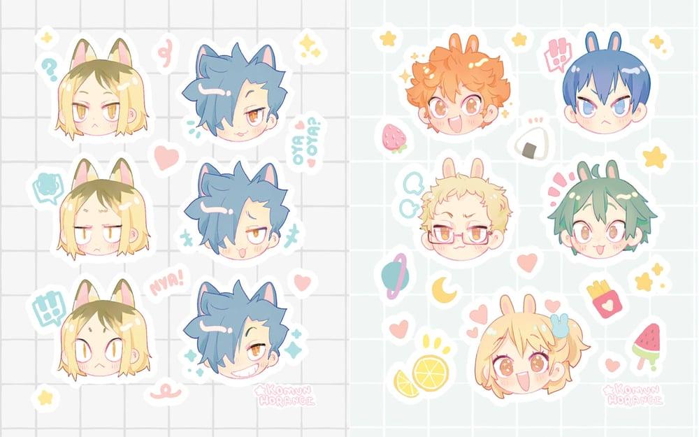 Image of Haikyuu Sticker sheets